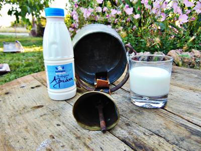 Παραδοσιακό-Βιολογικό αριάνι, ένα υγιεινό ρόφημα από από φρέσκο παστεριωμένο αιγοπρόβειο βιολογικό γάλα.
