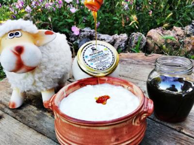 Πλήρες, αιγοπρόβειο βιολογικό γιαούρτι φτιαγμένο με βάση την παραδοσιακή βλάχικη συνταγή από καλλιέργεια γιαούρτης. Απολαυστικό, με μοναδική, πλούσια γεύση και υψηλή διατροφική αξία.